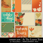As The Leaves Turn Journal Cards-$1.99 (Lindsay Jane)