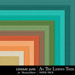As The Leaves Turn Embossed Paper Pack-$1.99 (Lindsay Jane)
