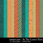 As The Leaves Turn Glitter Paper Pack-$1.99 (Lindsay Jane)