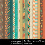 As The Leaves Turn Paper Pack-$2.49 (Lindsay Jane)