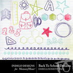 Back To School ID Doodles-$2.99 (Indigo Designs)