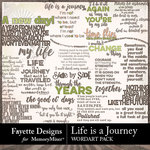 Life is a Journey WordArt Pack-$3.99 (Fayette Designs)