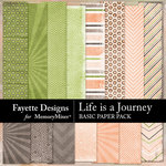 Life is a Journey Basics Paper Pack-$3.99 (Fayette Designs)