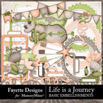 Life is a Journey Basics Embellishments-$3.99 (Fayette Designs)