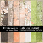 Life is a Journey Hotmess Solids Paper-$3.99 (Fayette Designs)