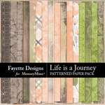 Life is a Journey Patterned Paper Pack-$3.99 (Fayette Designs)