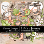 Life is a Journey Embellishment Pack-$3.50 (Fayette Designs)