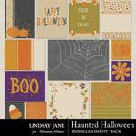 Haunted Halloween Journal Cards-$1.40 (Lindsay Jane)