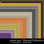 Haunted Halloween Embossed PP-$1.99 (Lindsay Jane)