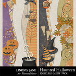 Haunted Halloween Borders-$1.40 (Lindsay Jane)