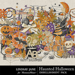 Haunted Halloween Embellishments-$3.49 (Lindsay Jane)