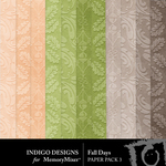Fall Days ID Embossed Paper Pack-$2.99 (Indigo Designs)
