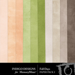 Fall Days ID Solid Paper Pack-$2.99 (Indigo Designs)