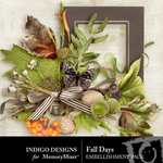 Fall Days ID Embellishment Pack-$2.99 (Indigo Designs)
