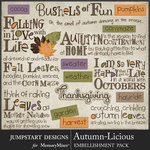 Autumn Licious WordArt Pack-$3.99 (Jumpstart Designs)