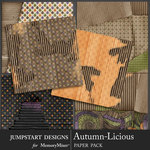 Autumn Licious Cardboard Paper Pack-$3.99 (Jumpstart Designs)