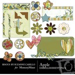 Apple Embellishment Pack-$3.00 (Bisous By Suzanne Carillo)