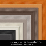 A Basketball Star Embossed Paper Pack-$1.99 (Lindsay Jane)