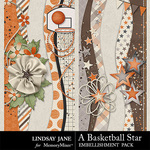 A Basketball Star Borders Pack-$1.99 (Lindsay Jane)