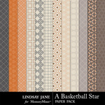 A Basketball Star Pattern Paper Pack-$1.99 (Lindsay Jane)