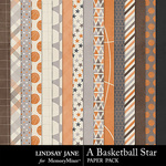 A Basketball Star Paper Pack-$2.49 (Lindsay Jane)