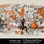 A Basketball Star Embellishment Pack-$3.49 (Lindsay Jane)