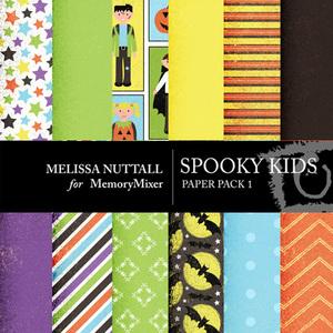 Spooky kids paper pack 1 preview medium