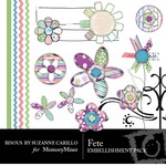 Fete Embellishment Pack-$3.00 (Bisous By Suzanne Carillo)