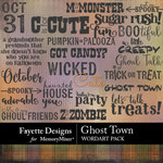 Ghost Town WordArt Pack-$3.99 (Fayette Designs)