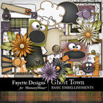 Ghost Town Basic Embellishment Pack-$3.99 (Fayette Designs)