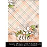 2016 Pocket Calendar FD-$8.99 (Fayette Designs)