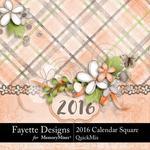 2016 Calendar Sq FD-$9.99 (Fayette Designs)