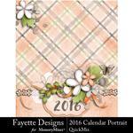 2016 Calendar Por FD-$9.99 (Fayette Designs)