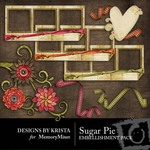 Sugar Pie Embellishment Pack-$2.50 (Designs by Krista)