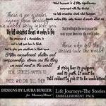 Life Journeys WordArt Pack-$4.99 (Laura Burger)