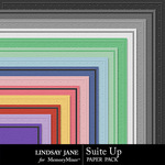 Suit Up Embossed Paper Pack-$1.40 (Lindsay Jane)