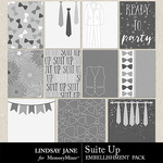 Suit Up Journal Cards-$1.40 (Lindsay Jane)
