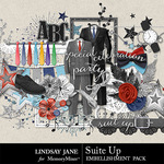 Suit Up Embellishment Pack-$2.45 (Lindsay Jane)