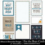 For the Boys ATR Journal Cards-$2.49 (Albums to Remember)