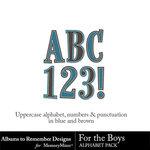 For the Boys ATR Alphabet Pack-$2.99 (Albums to Remember)
