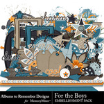 For the Boys ATR Embellishment Pack-$3.49 (Albums to Remember)
