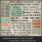 Live Colorful WordArt Pack-$2.80 (Jumpstart Designs)