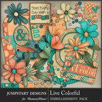 Live Colorful Add On Emb Pack-$4.99 (Jumpstart Designs)