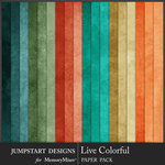 Live Colorful Plain Paper Pack-$2.80 (Jumpstart Designs)