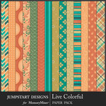 Live Colorful Pattern Paper Pack-$2.80 (Jumpstart Designs)