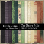The Extra Mile Add On Paper Pack-$2.99 (Fayette Designs)