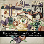 The Extra Mile Add On Embellishments-$2.10 (Fayette Designs)