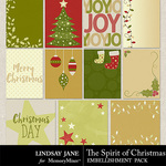 The Spirit of Christmas Journal Cards-$1.99 (Lindsay Jane)