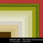 The Spirit of Christmas Embossed Paper Pack-$1.99 (Lindsay Jane)