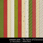The Spirit of Christmas Glitter Paper Pack-$1.99 (Lindsay Jane)